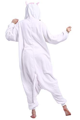 Procione Bianco Animati Kigurumi Animale Pigiama Cartoni Cosplay Adulti Unisex da Lavatore HBxqxOatw