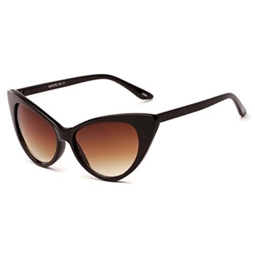 2dd5e5cd95 Sunglass Warehouse Sierra  1274 Brown Frame with Amber Lenses Womens Cat  Eye Sunglasses hot sale