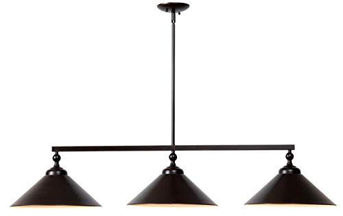 Kenroy Home 93247ORB  Conical 3-Light Island Light, Blackened Oil Rubbed Bronze
