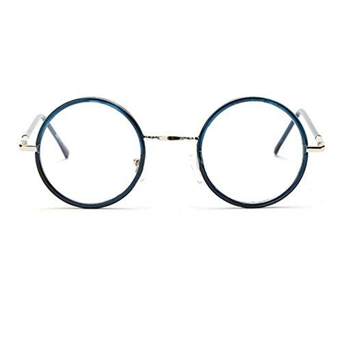 Meijunter lunettes unisexe lunettes rondes rétro cadre miroir plaine Montures de lunettes pour hommes et femmes