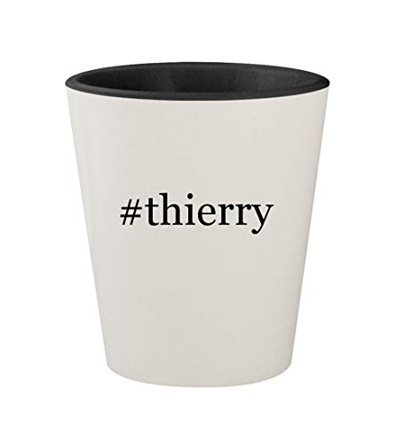 Price comparison product image #thierry - Ceramic Hashtag White Outer & Black Inner 1.5oz Shot Glass