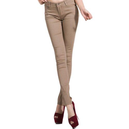 Hee Grand Jeans Slim Femme Kaki