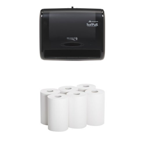 Georgia-Pacific 58470 SofPull®  Automatic Touchless Paper Towel Dispenser Bundle with 6 Hardwound Towel Refills by Georgia Pacific Professional