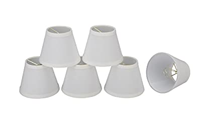 Aspen Creative 32060-5 Small Hardback Empire Shape Chandelier Clip-On Lamp Shade Set
