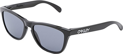 Oakley Men's Frogskins (a) Polarized Iridium Rectangular Sunglasses, Matte Brown Tortoise, 54 - Oakley Womens Frogskins