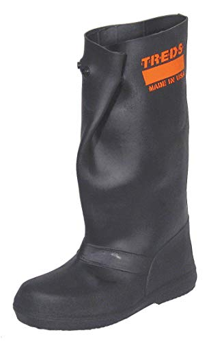 - Overboots, M, Pull On, 17in H, Blk, PR