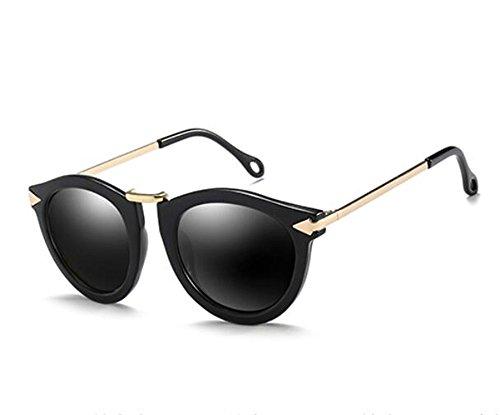 Miopía Ceniza polarizadas Gafas Gafas Personalidad Sol acorde con KOMNY Sol con Negro La 100 de Ash de Grados Degrees 200 Grados Black Of Lentes Redonda Cara Mujeres para de Productos P8T5SqT