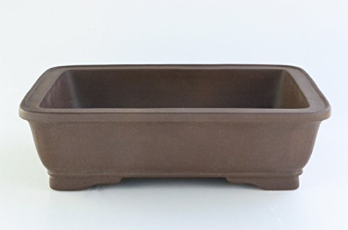Large Unglazed 20''Rectangular Yixing Purple Clay Ceramic Bonsai Pot(PA42-20) by BonsaiSupplies