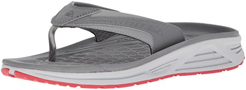 Columbia Men's Molokai III Sandal, High-Traction Grip, Shock Absorbent, Monument, Bright red, 8 D US