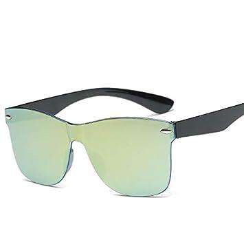 YUHANGH Moda para Adultos Espejo Gafas De Sol Mujeres ...