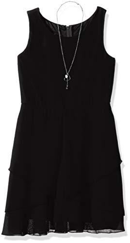 (Amy Byer Girls' Big Simply Elegant Sleeveless Chiffon Dress, Black,)