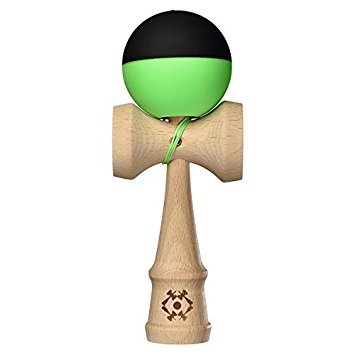 Kendama USA - Tribute - Half Split Silk Kendamas - Great for Beginners - Extras Included (Green)