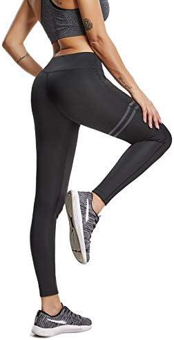 FITTOO Pantalones Deportivos Leggings Mujer Yoga de Alta Cintura Elásticos y Transpirables para Running Fitness Yoga con Gran Elásticos 8