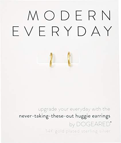 Modern Everyday Necklace - Dogeared Women's Modern Everyday, Huggie Earrings Gold One Size