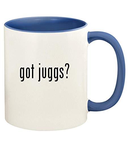 got juggs? - 11oz Ceramic Colored Handle and Inside Coffee Mug Cup, Cambridge Blue