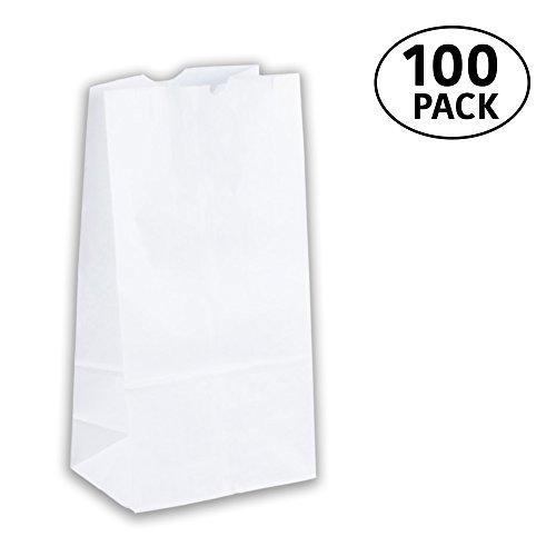 4 Lb White Paper Bags - 3
