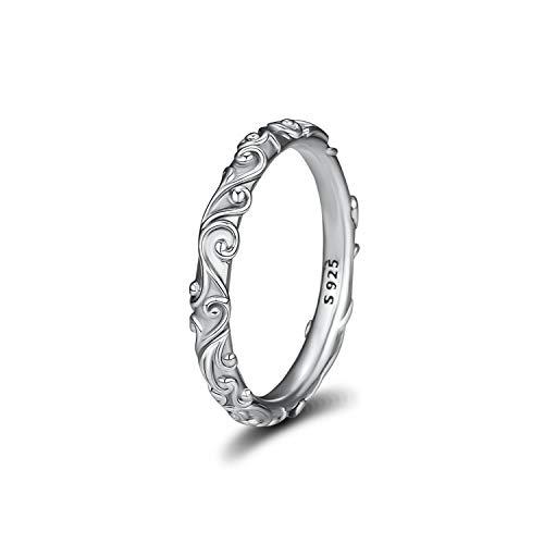 Amoilys Newest Silver Regal Beauty Finger Rings for Women Wedding Original Jewelry Making, 7