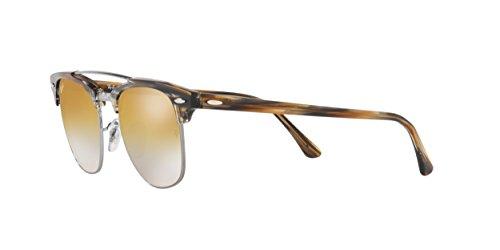 Ray-Ban 0rb38161238i351clubmaster Doublebridge Non-Polarized Iridium Square Sunglasses, Gunmetal, 51 mm