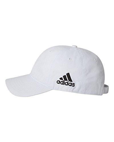 Cap White Logo Baseball (adidas - Unstructured Cresting Cap - A12 - Adjustable - White…)