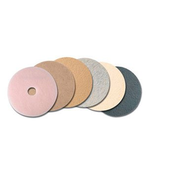 3M Ultra High-Speed Natural Blend Floor Burnishing Pads 3500, 24-Inch, Natural Tan - 5 pads per case.