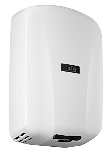 Excel Dryer TA-ABSV Automatic, Surface-Mounted, ADA-Compliant Conventional Hand Dryer, Antimicrobial ABS Cover, White, 208-277V 50/60 Hz
