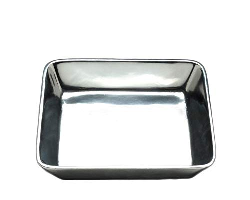 Arthur Court Classic Napkin Holder Box Heavy Cast Aluminum Cocktail Size | Perfect for all sizes of Small Bar Paper Square Napkins 6
