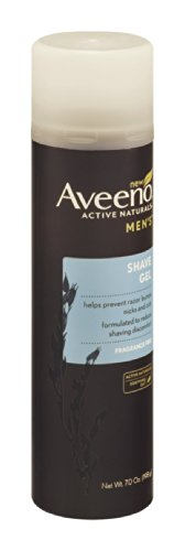Aveeno Mens Shave Gel Fragrance Free 7 Oz