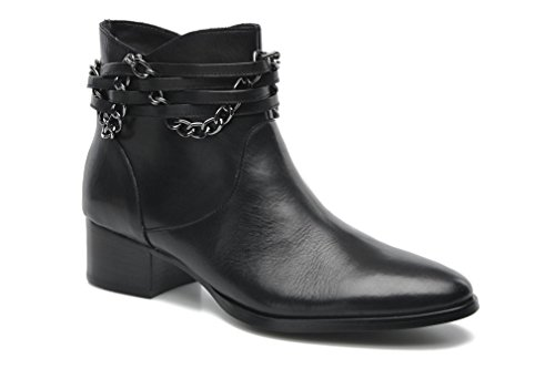 JEYU black ankle boots Ladies leather Womens 8 K Karston classic HE4qIw
