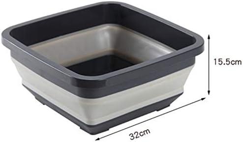 Fssh-mlx 屋外の旅行のためのリトラクタブル洗面器家庭用プラスチック洗面折り畳み式携帯洗面器 (色 : B)