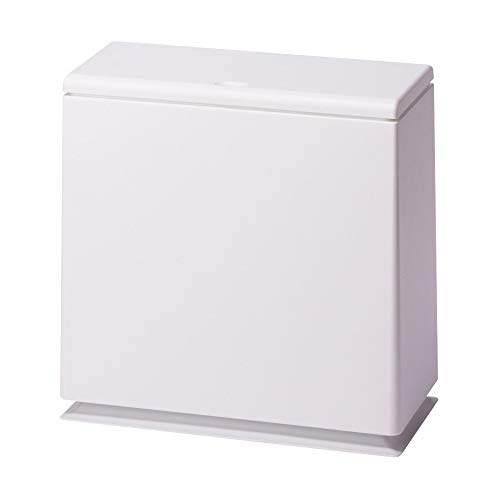Ideaco TUBELOR Kitchen Flap Designer Rectangular Waste Bin with Lid, Conceals Any Plastic Bag 2.3 Gal, Matte White