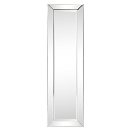 Solid Wood Frame Mirror - Empire Art Direct Solid wood frame Full Length Mirrors covered with beveled clear mirror panels,Modern Cheval Bedroom Floor Mirror, 1