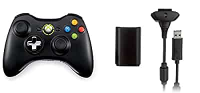 xbox 360 wireless controller via play  charge kit