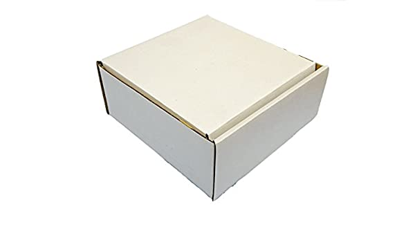 158 mm x 158 mm x 68 mm estilo 0427 blanco caja Postal de cartón (Pack de 50): Amazon.es: Oficina y papelería