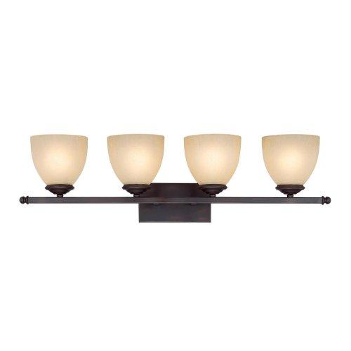 Capital Lighting 8404BB-201 Vanity with Mist Scavo Glass Shades, Burnished Bronze (Cream Scavo Glass Shades)