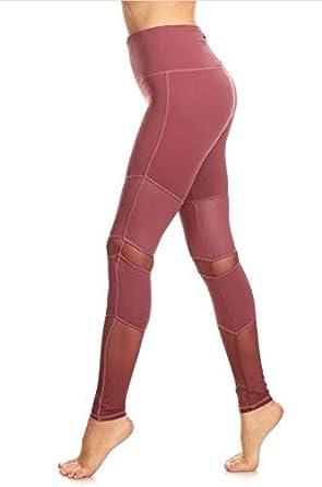 Fair Shade Women Peru MESH Active Seamless Gym Workout Fitness Yoga Tights Pant Legging