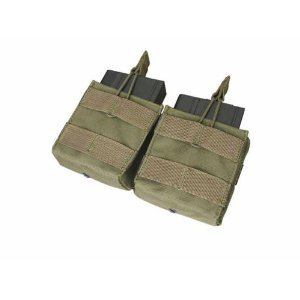 Double M-14 Open Top Mag Pouch Color- OD Green (M14 Mag Pouches)