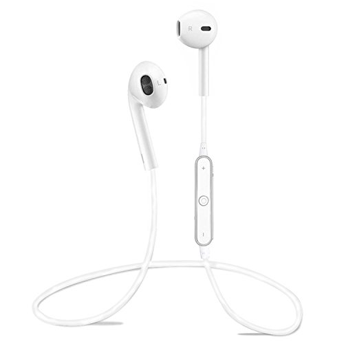 6bd381b4d6a Brooke Upgraded S6 Bluetooth Headphones,Wireless Headphones Bluetooth 4.1  Earbuds with Mic Sport Stereo Headset,Sweatproof Earphones,headsets,3-4  hours ...