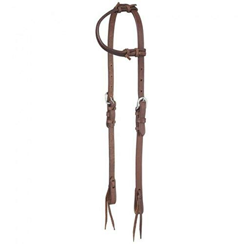Headstall Tie Ends - Tough-1 Harness Leather One Ear Headstall w/Tie