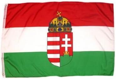 FahnenMax – Bandera de Hungría con escudo 150 x 250 cm Banderas: Amazon.es: Jardín