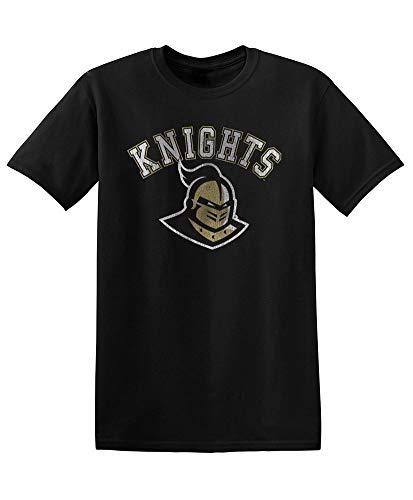 Elite Fan Shop NCAA Men's Central Florida Golden Knights T Shirt Team Vintage UCF Knights Black X -