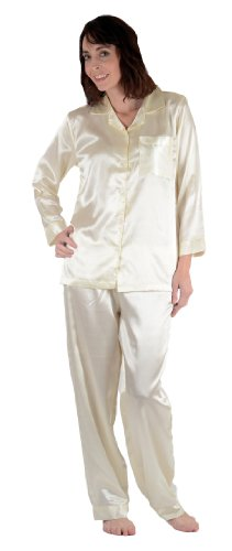 Up2date Fashion Classic PJ Set, Five Colors, Sizes (S, M, L, XL), Style#PJ08ND (Small, (Silk Charmeuse Pants)