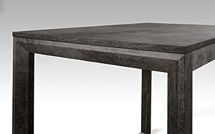 Dafne Italian Design Tavolo Allungabile Color Ossido Cm 110 X 70 X 75h Amazon It Casa E Cucina