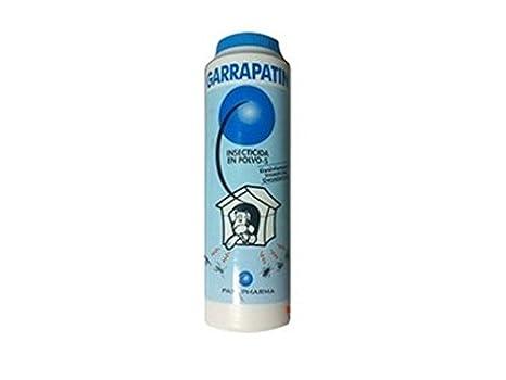 Antiparasitario pulgas casetas y camas de perro y caballo GARRAPATIN polvo 400g: Amazon.es: Hogar