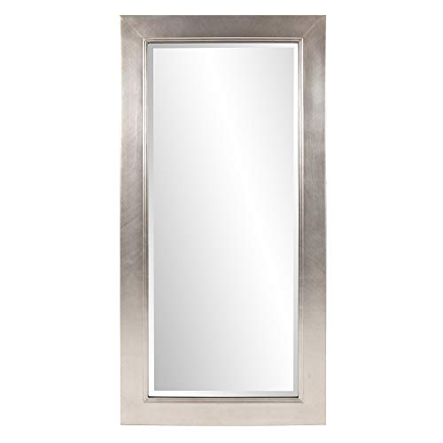 Howard Elliott Millennium Rectangular Hanging Oversized Wall Mirror, Silver Leaf, 30 x -