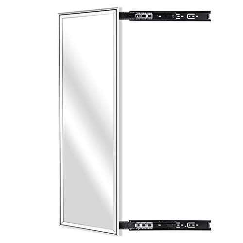 - KDKD Closet Mirror Mounted with Telescopic Rail for Wardrobe, Rectangle Sliding Body Mirror.(39.3