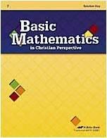 Download Basic Mathematics in Christian Perspective Grade 7 Solution Key A Beka Book pdf epub