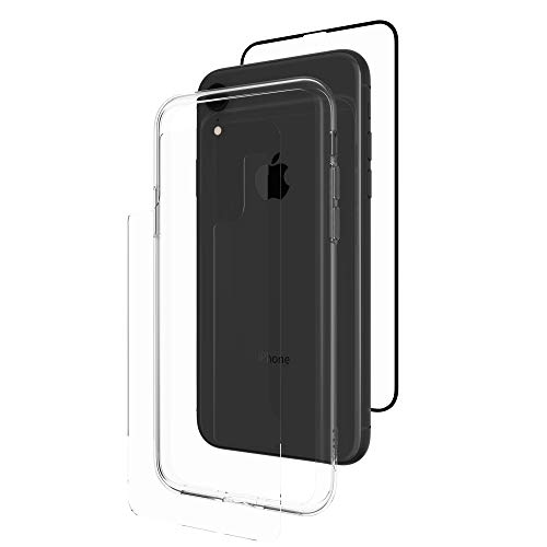 ZAGG InvisibleShield Glass+ 360 - Front + Back Screen Protection with Side Bumpers Made for Apple iPhone XR - Black, Clear by ZAGG (Image #5)