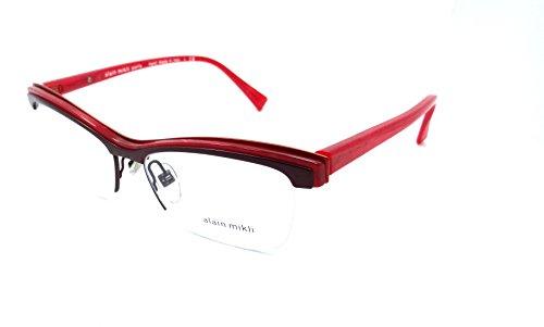 Alain Mikli Rx Eyeglasses Frames A02020 E175 54x16 Violet / Matte Orange / Red by Alain Mikli