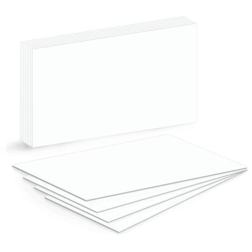 Extra Thick \ Heavy Blank Index Cards, On 14pt. 100lb Heavyweight Thick White Cover Stock. 100 Cards Per Pack (5 X - Blank Index Heavy Cards