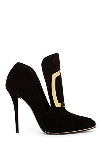 Chaussures Talons Noir W6CES011104176 À Femme Balmain Suède qI1AwS